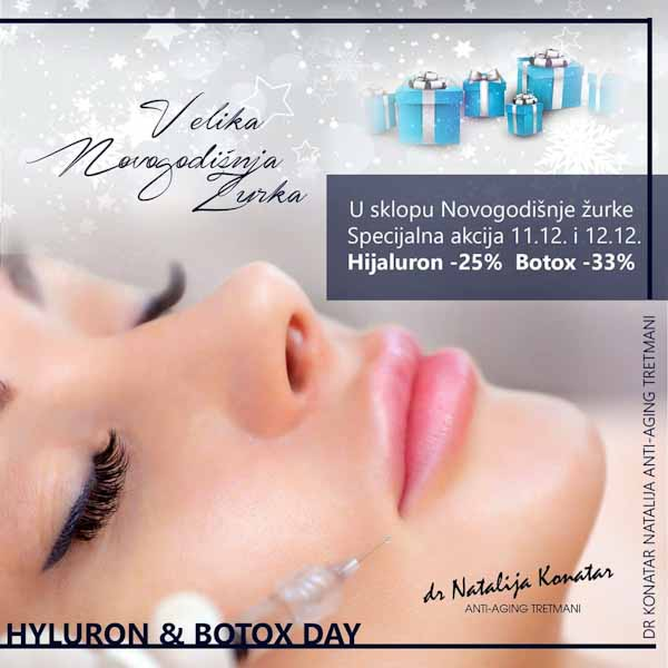 Akcija botox, hyluron